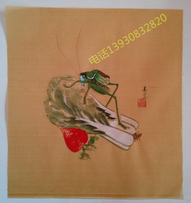 天津高志学内镶顶手绘鸟笼画布 手工竹红子靛颏涿州鸟笼配件