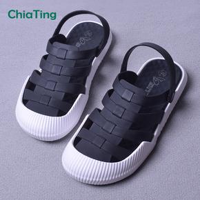 包头凉鞋女外穿休闲简约舒适平底去度假韩版学生沙滩鞋圆头拖鞋夏