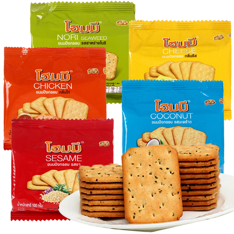Besna carry on bag cheese chicken seaweed coconut biscuits 100g leisure snacks imported from Thailand