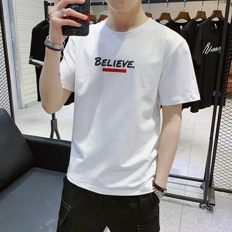 Summer boys, teenagers, big children, junior high school students, high school students, cotton short-sleeved t-shirt boys, Korean version of the trend thin section