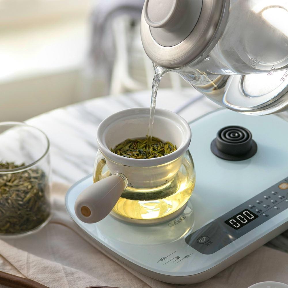 小熊 ZCQ-A08E1煮茶养生壶玻璃全自动蒸汽喷淋式黑茶煮茶器家用壶