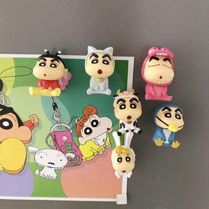 卡通创意3D可爱蜡笔小新小葵磁性冰箱贴ins公仔玩偶磁力贴一套