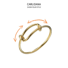 Sliding design adjustable size activity ring fashion ins wind net red titanium steel ipg18k gold-plated jewelry