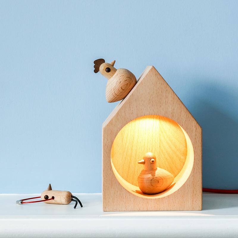 树德生活馆 肥来鸟氛围灯装饰摆件创意礼品结婚礼物送闺蜜实用