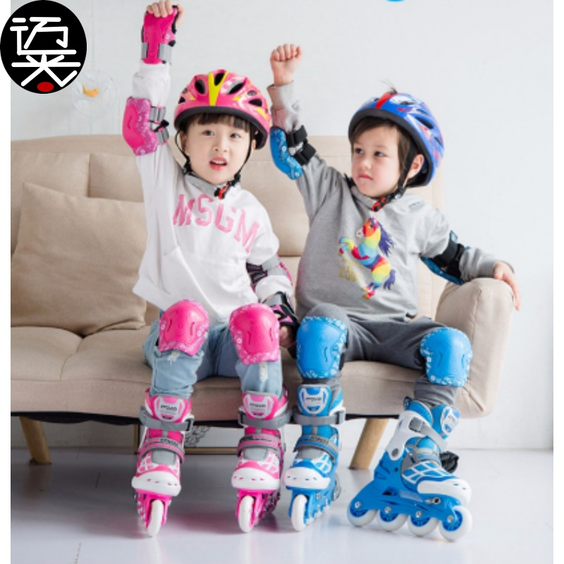 Adjustable buckle luminous childrens skates skates beginners big size high top speed skating big childrens palm protection classic