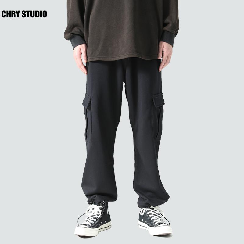 chry studio春季九分抽绳男休闲裤满258.00元可用130元优惠券