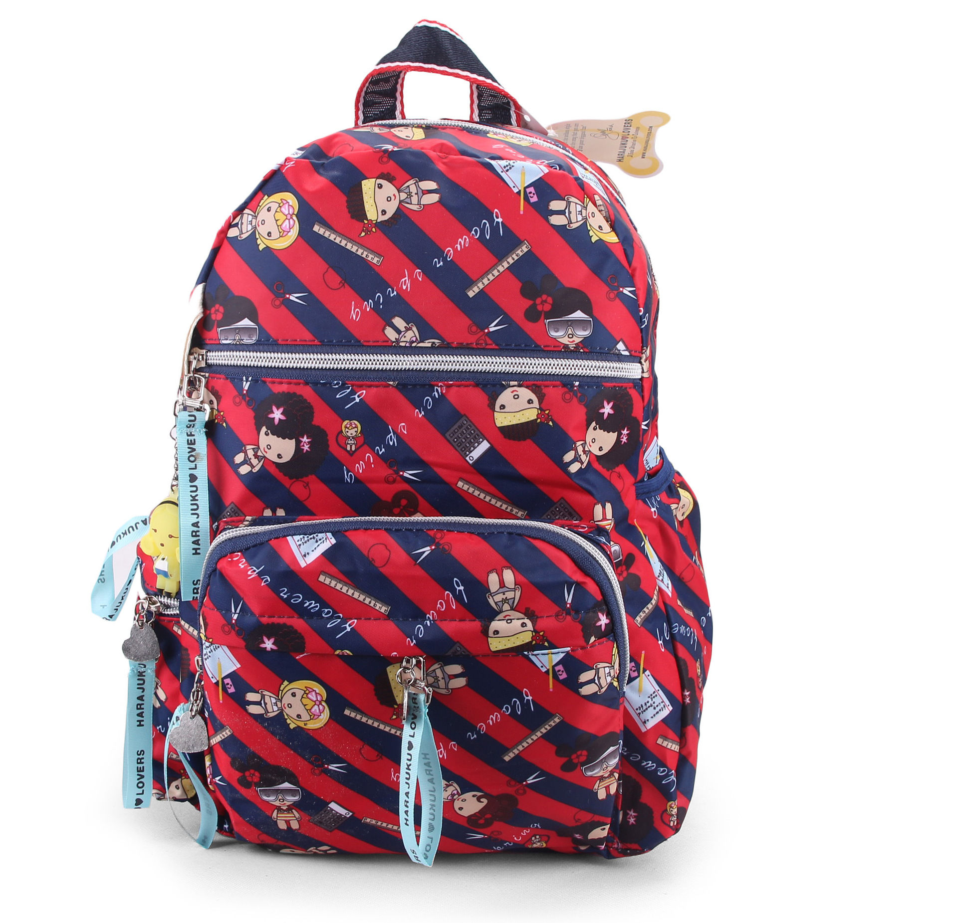 [Harajuku doll] backpack student schoolbag waterproof cloth bag multi color cute small backpack for men and women