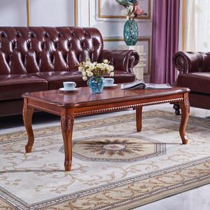 欧式茶几简约实木美式客厅茶台桌地中海沙发配套角几象牙白茶桌