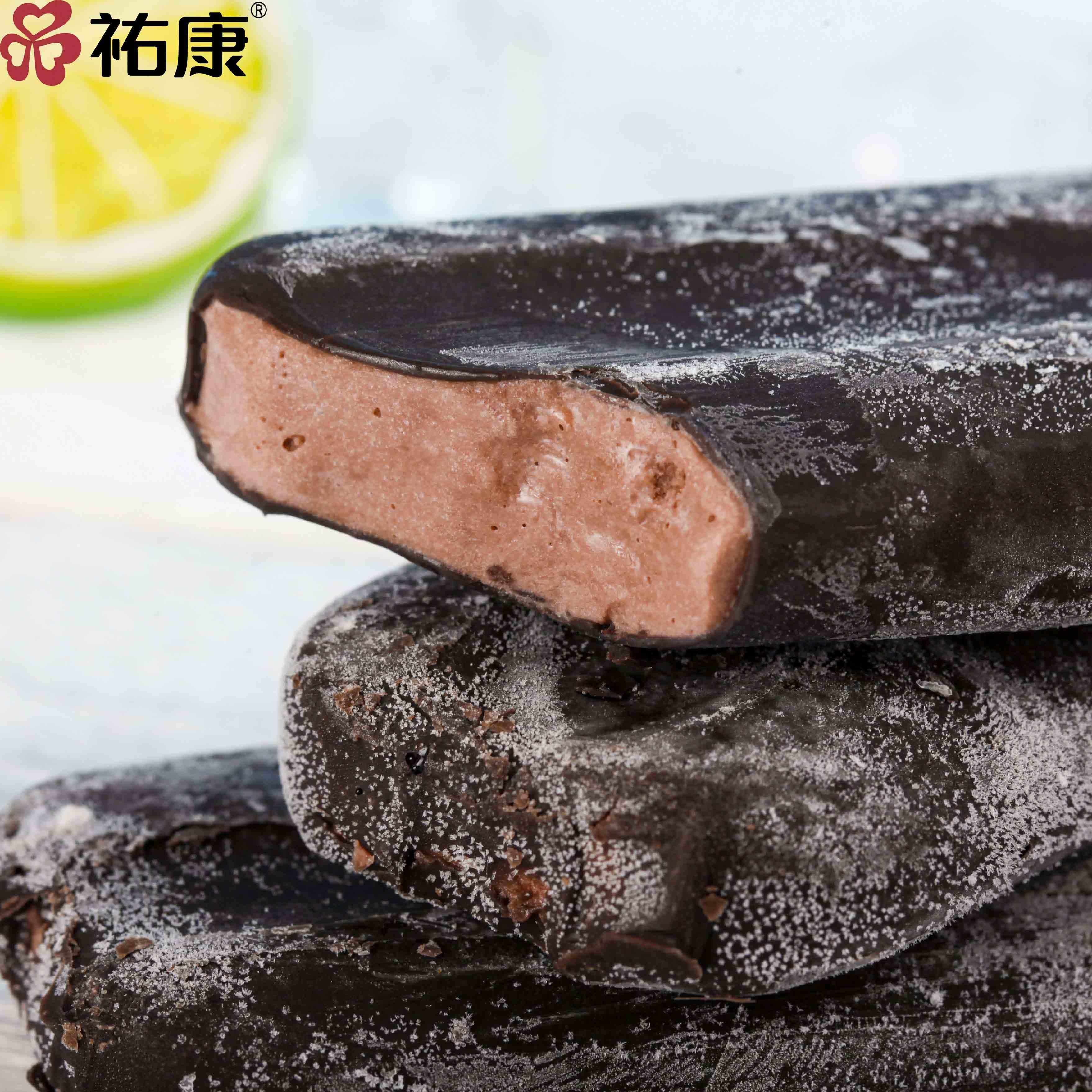 黑巧克力脆皮雪糕*40支棒冰棒雪糕冷饮批发
