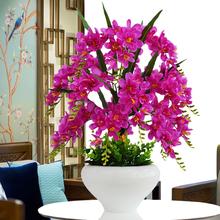 Phalaenopsis simulation flower suit ornament artificial flower silk flower plastic flower household living room tea table TV cabinet decoration