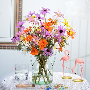 插花绢花装 饰花清新时尚 雏菊仿真花假花套装 简约家居客厅卧室摆件