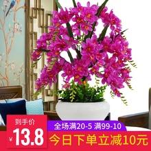 セット装飾蝶蘭造花造花シルクフラワープラスチック永遠のブルーミング常に緑のディルの鍋を維持しやすい室内の花の植物でポッティングつぼみの花の概念の椿の木