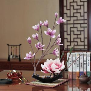 大玉兰花套装仿真花摆件假花PE花家居客厅茶几餐桌装饰花卉摆设