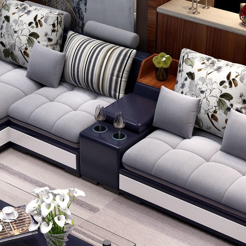 簡単な組み合わせの家具仏山包装物流の角は、小型の部屋型リビングソファの近代的な布芸を分解して洗うことができます。
