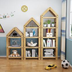 书架落地简约现代简易置物架子组装组合儿童实木小书柜家用省空间