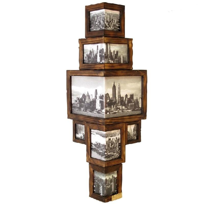 实木转角组合相框壁饰墙角挂墙相架护墙画框北欧壁挂现代可换相片