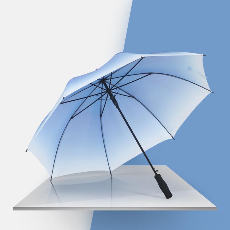 雨伞定制印logo图案广告伞礼品直柄伞男女自动小清新长柄伞渐变色