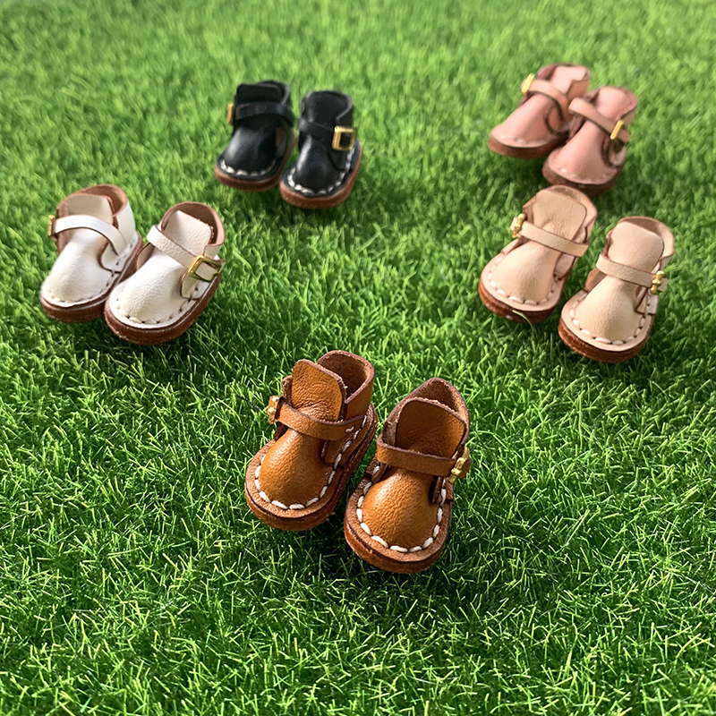 Multicolor ob11 baby shoes buckle handmade cow leather boots real leather shoes Hippie short boots long boots shoes gsc12 points BJD