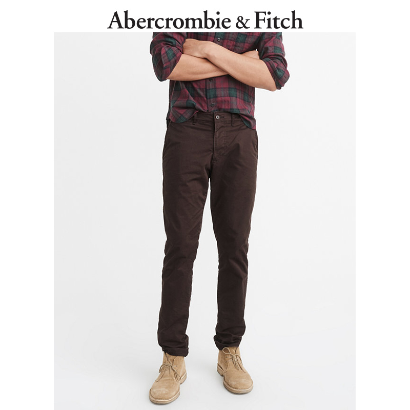 Winter Special Offer Abercrombie & Fitch men's tight-fitting khaki pants, casual pants 165795 AF