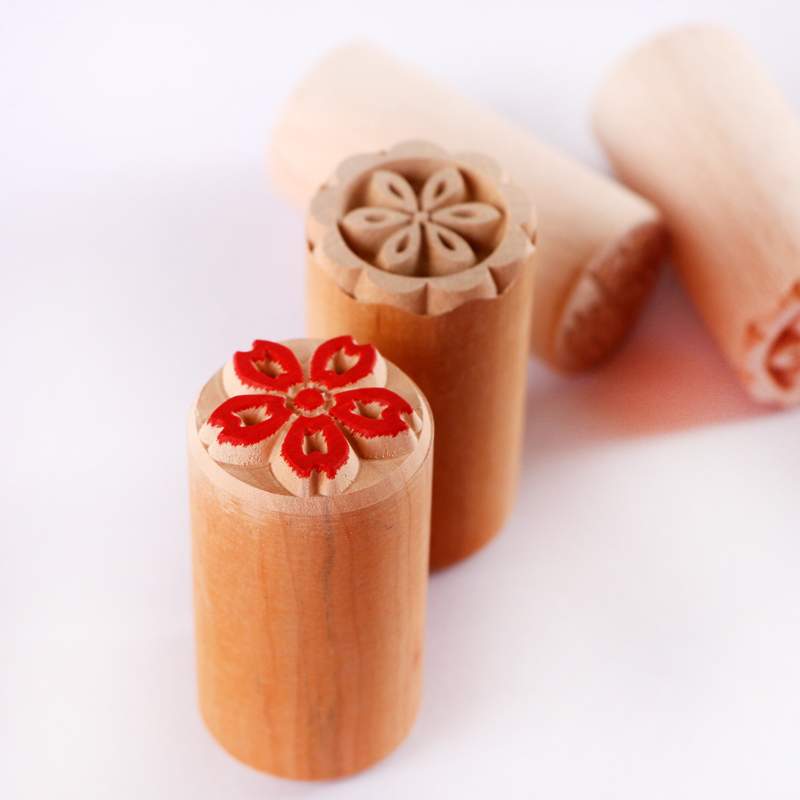 小号花印章福字木质苏式糕点印章点心面食喜字馒头月饼模具