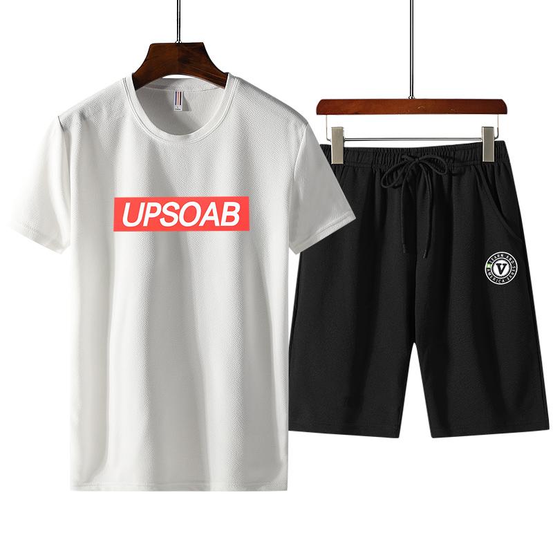 男士韩版夏装短袖宽松t恤短裤两件套