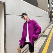 sodu人鱼姬衬衫女2020新款夏季ins潮港风宽松设计感长袖防晒衬衣