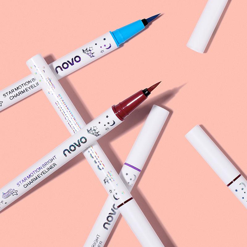 李佳琪推荐novo白色眼线笔防水持久不晕染初学者彩色眼线液笔胶棕