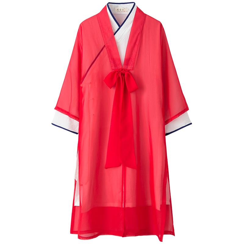 武当山太极服披纱单件白色太极服女披风披肩纱衣道袍女中国风禅意