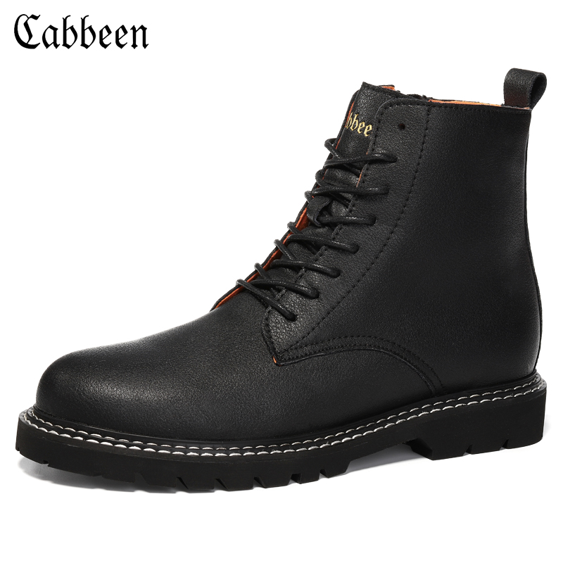 Cabin Martin boots men's British style men's boots men's shoes winter plus velvet warm tooling men's boots high-top leather boots men