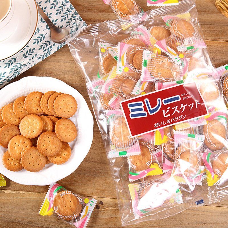 Japanese Nagoya specialty imported pingye biscuit 180g salty biscuit nanruwanghong snack