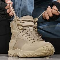 盾郎戶外低幫沙漠靴特種兵作戰靴軍靴男夏季透氣戰術鞋耐磨飛行靴