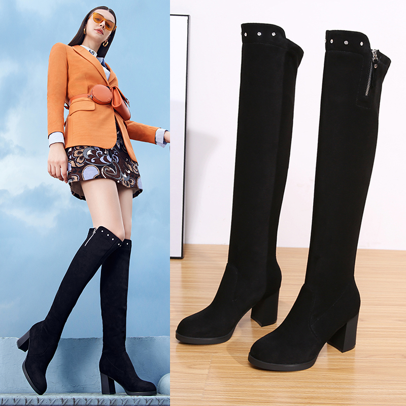 Jurixian thin Knee Boots New Spring thin boots in winter of 2019