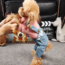 Dog clothes Tedibi Xiongbomei puppies in autumn and winter wear thicker puppy four-legged clothes pet miniature dog strap pants