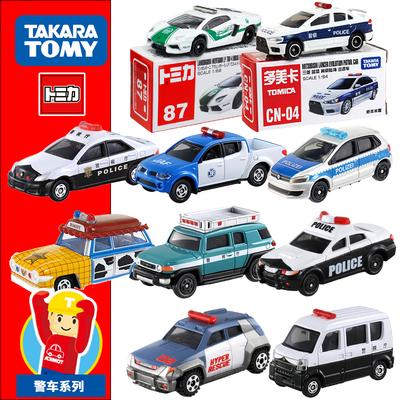 TOMY多美卡合金车模型TOMICA警察巡逻车男孩多美卡警车玩具小汽车