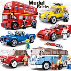 快乐小鲁班积木樂高玩具男孩益智力拼装城市系列儿童拼插汽车模型