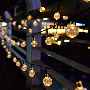 太阳能灯户外庭院灯LED七彩串灯防水花园别墅装饰星星灯串闪灯带