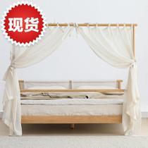 新中式纯实木架子床1.8米1.5米双人现代简约格约拉o床家具橡木