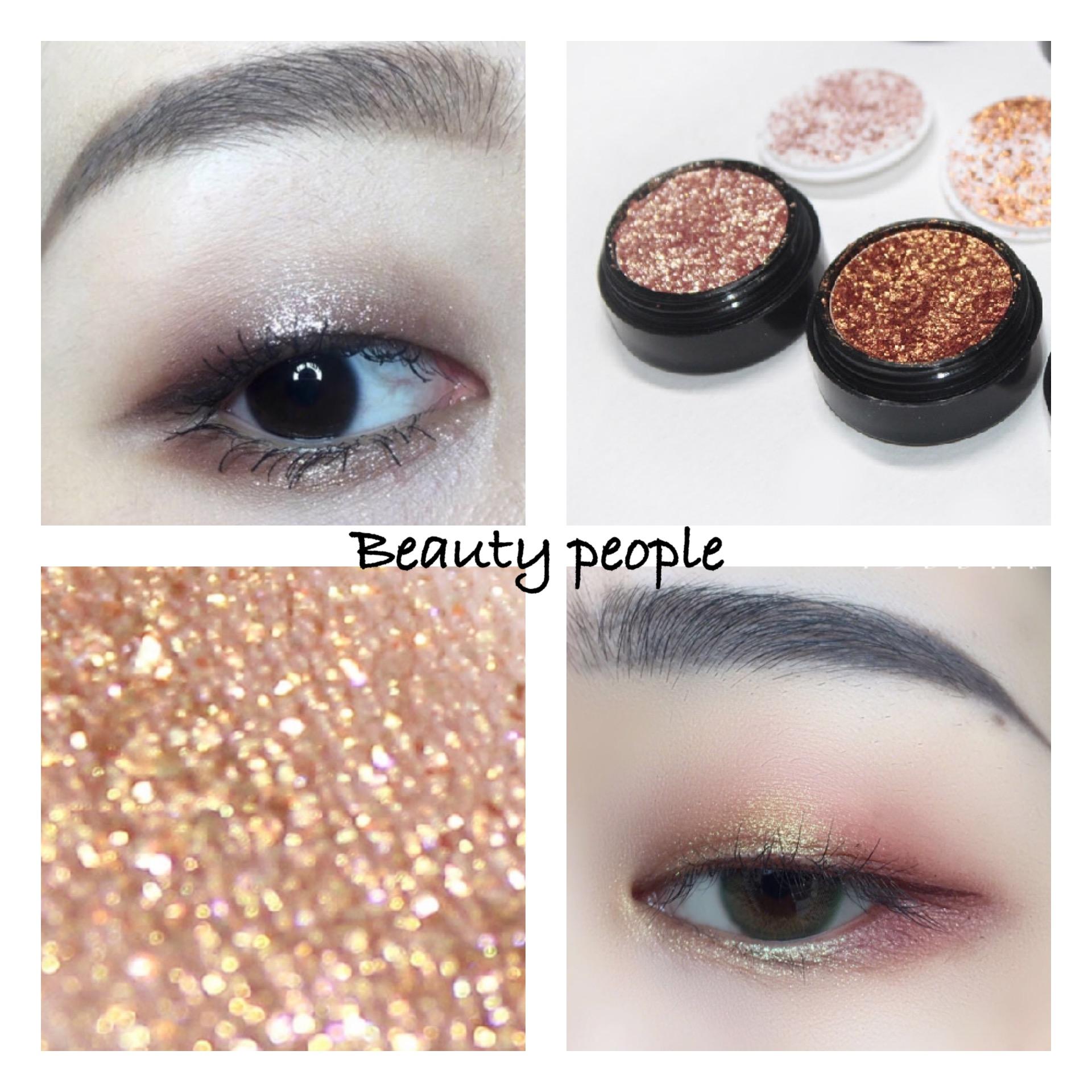 South Korea beautypeople pearl eye shadow, earth color nude make-up, silkworm diamond, super bright monochrome high gloss waterproof