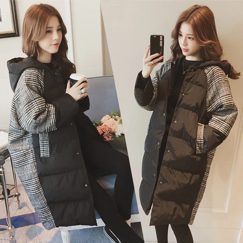 Autumn and winter 2020 new coat womens middle and long thick cotton padded jacket loose down cotton padded jacket