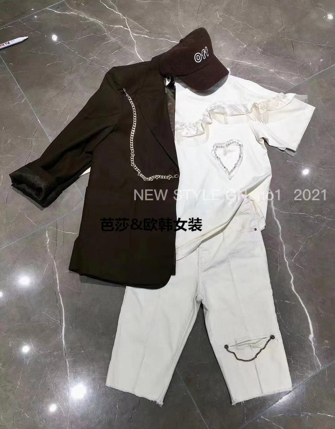 GNno.1丁螺女装2021秋冬新款韩版时尚休闲显瘦纯棉T恤短袖86855