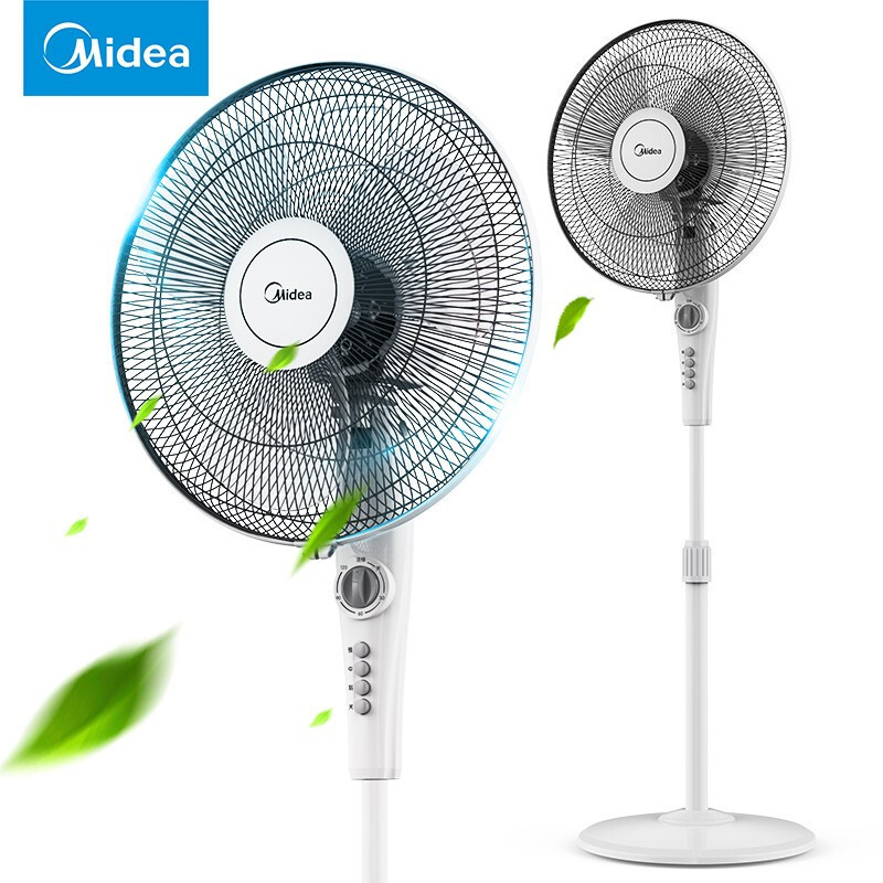 Midea fsa40ye 16 inch three leaf floor fan quiet timing large volume electric fan