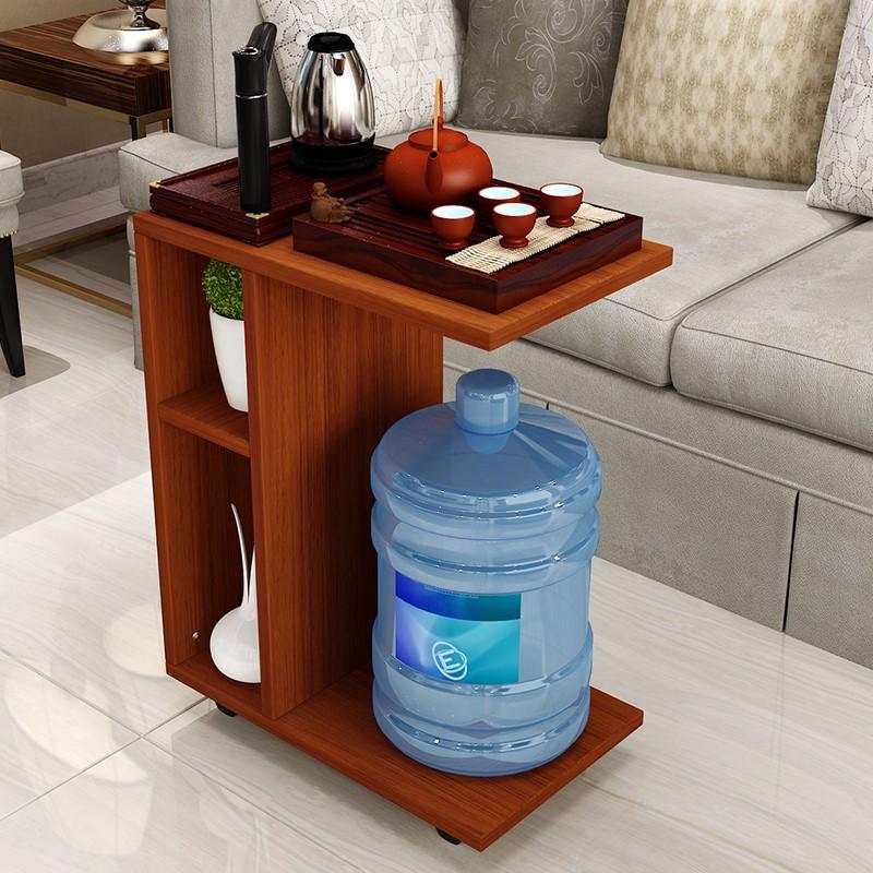 家用沙发边桌电脑桌懒人床上桌可移动茶几带轮边几角几移动小茶桌