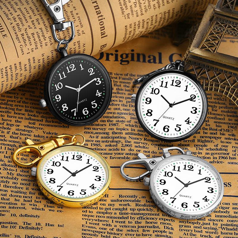 老式复古怀表老人电子钥匙扣表男女学生考试用护士表便携口袋挂表