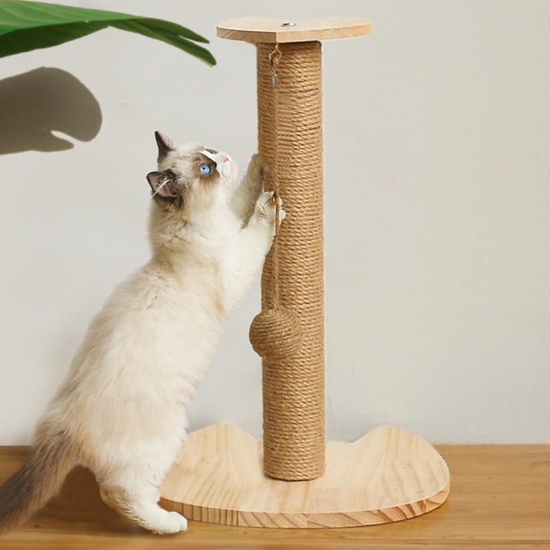 剑麻猫抓板猫抓柱磨爪器立式不掉屑耐磨猫爬架窝逗猫玩具猫咪用品