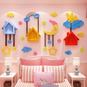 儿童房墙面装饰女孩公主布置贴纸画