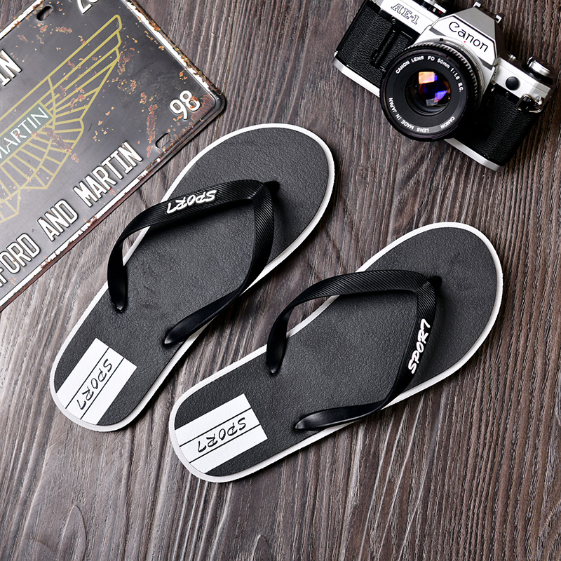 Flip flop womens summer fashion shoes bathroom flat bottom antiskid beach couple cool flip flop mens wear
