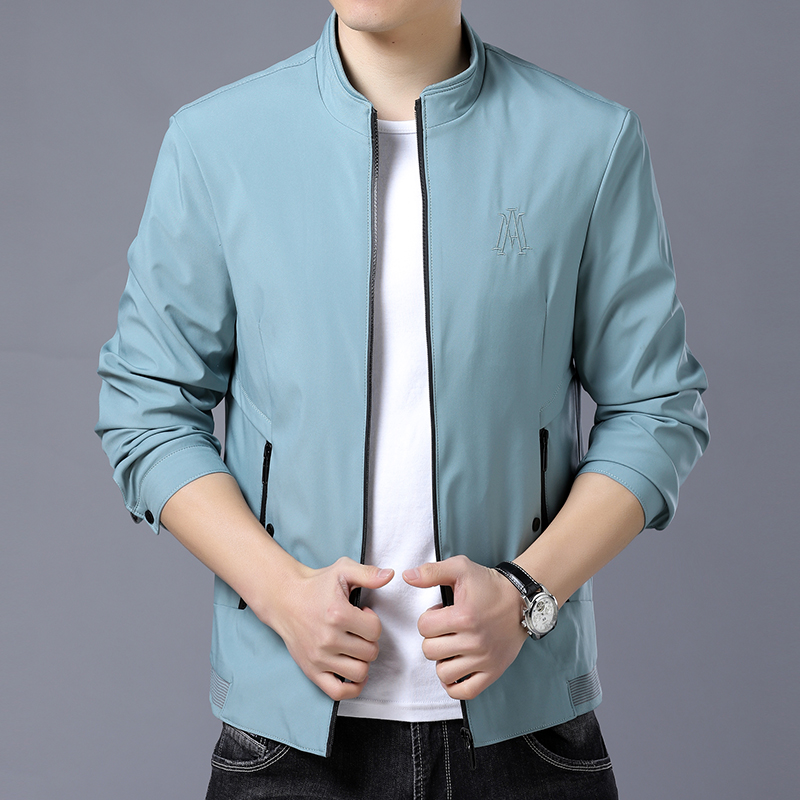 Woodpecker 2021 young and middle-aged mens spring thin jacket popular handsome coat top clothes boutique mens wear