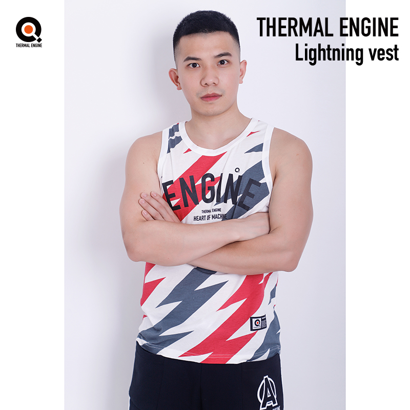 Thermal engine original American sports sleeveless mens fashion cotton loose print personalized wide shoulder mens Vest