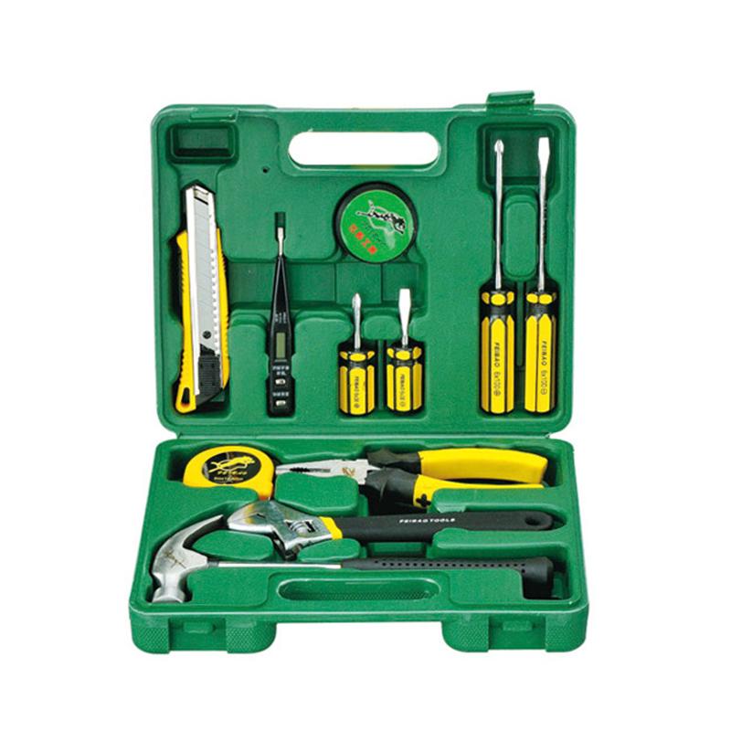易丝工具箱12件套组合套装家用礼品型工具组合套装 五金工具套装