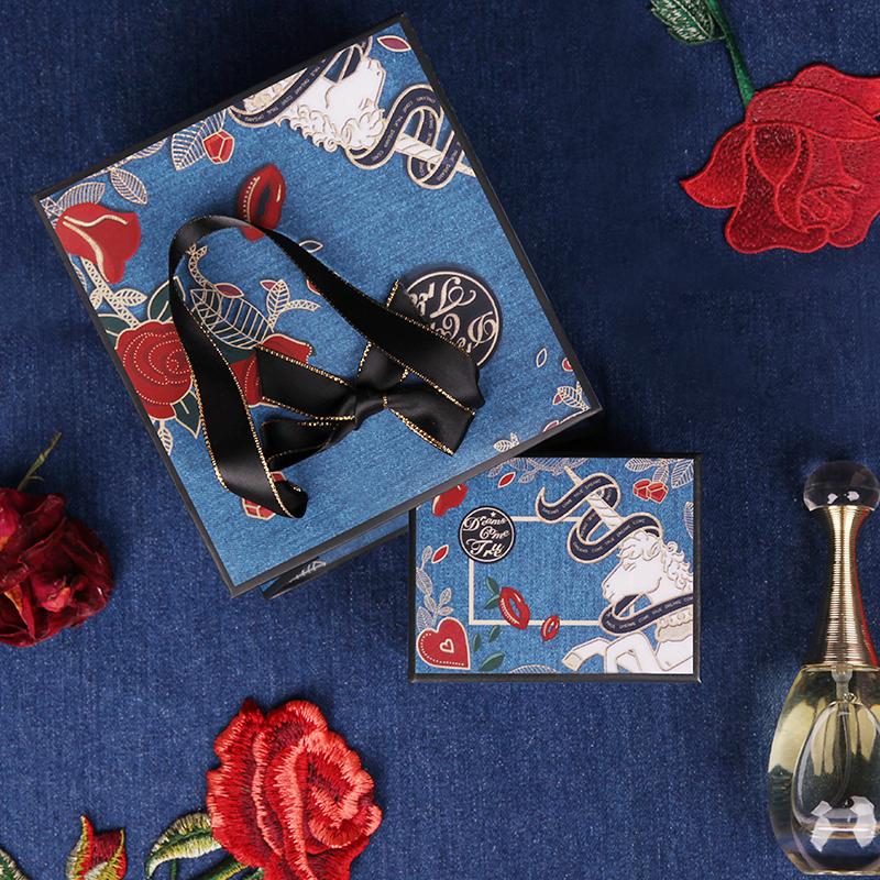 单支装口红礼盒1支装礼物盒女小号包装盒网红礼品盒喜糖盒手提袋
